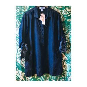 NWT WORKSHOP Plus size denim Tunic, Shirt dress